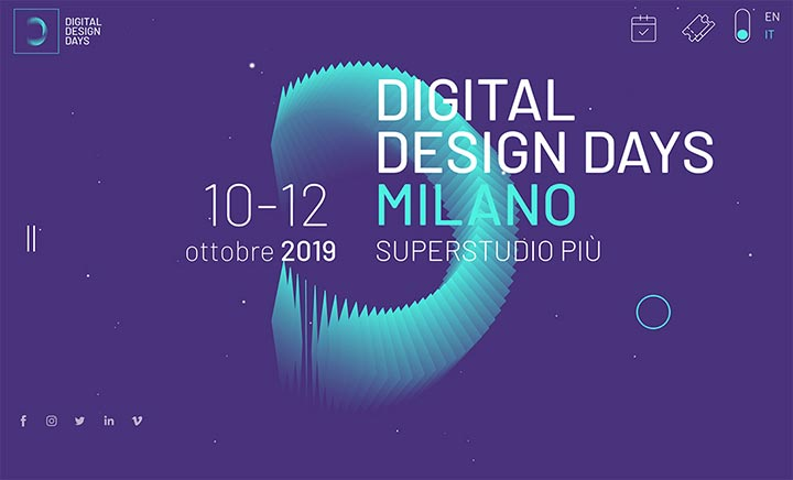 Digital Design Days Festival website