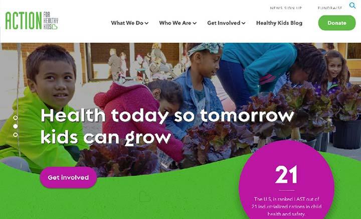 Action for Healthy Kids website