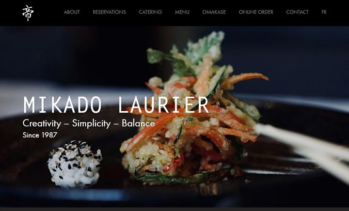 Mikado Laurier website