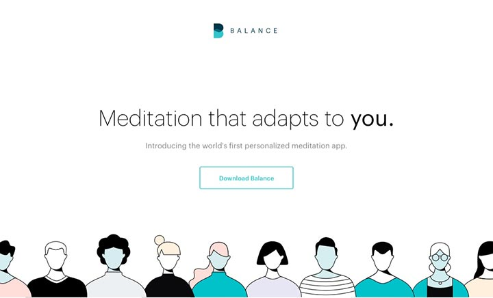 Balance - Personalized Meditation website