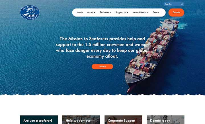 The Mission to Seafarers website