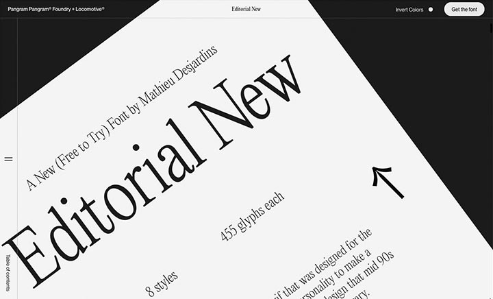 Editorial New website