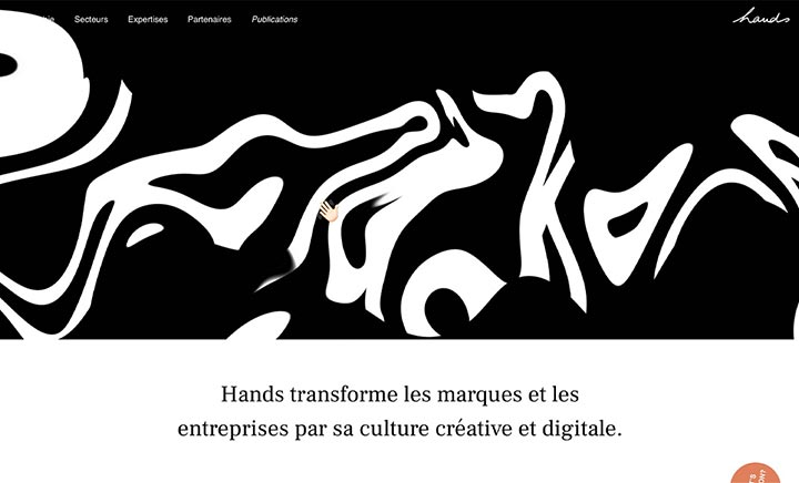 Hands Agency website