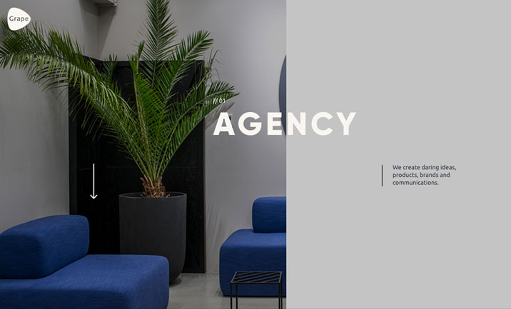 Grape Agency website