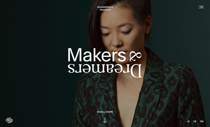 Squarespace: Makers & Dreamers website