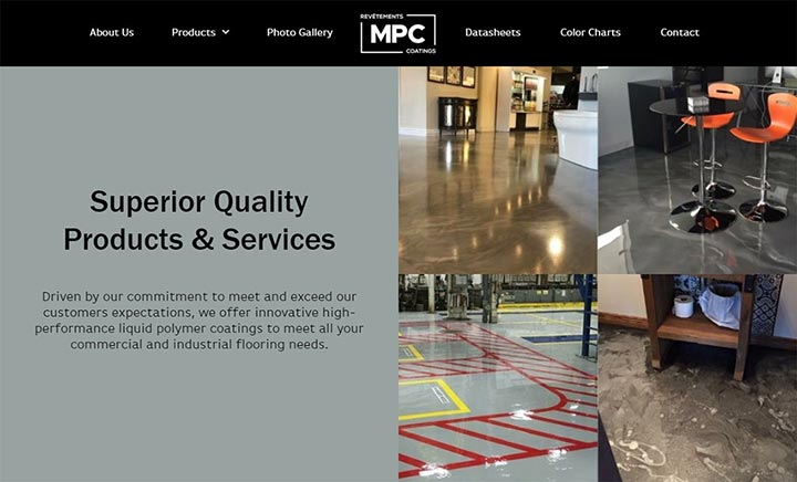 Master Protective Coatings website
