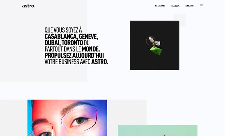 Astro - Digital Agency website