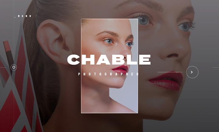 Chable Photographer website