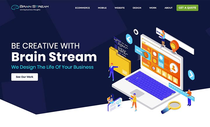 Brain Stream website