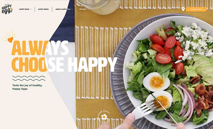 Happy Egg Co. website