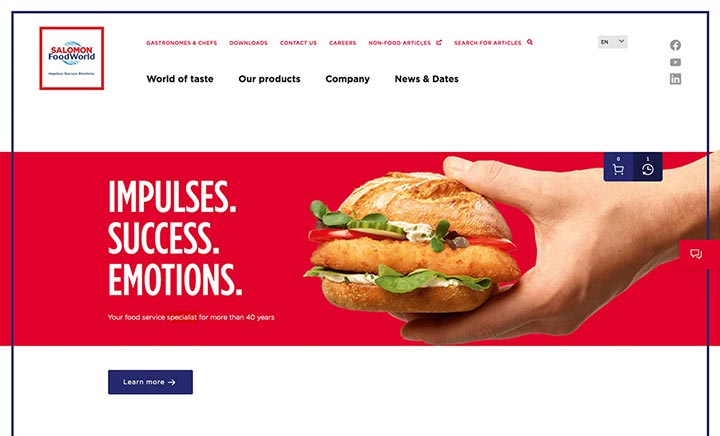 SALOMON FoodWorld website