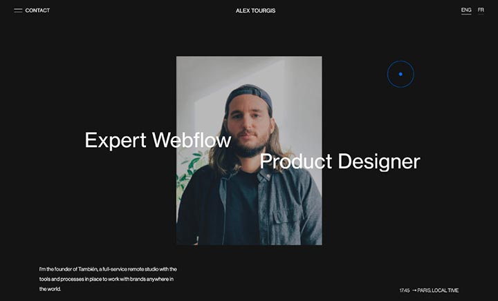 Alex Tourgis — Portfolio website