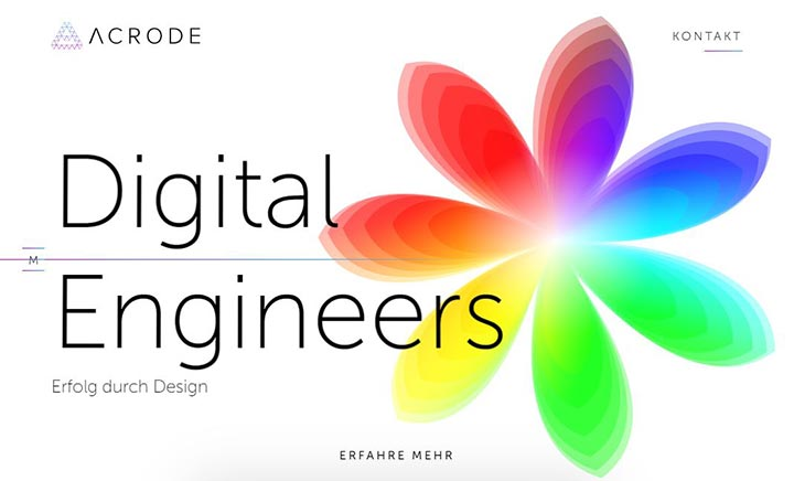 acrode - Digital Engineers website