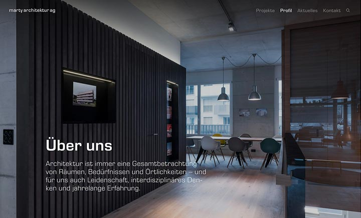 marty architektur website