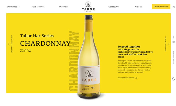 Tabor Winery website