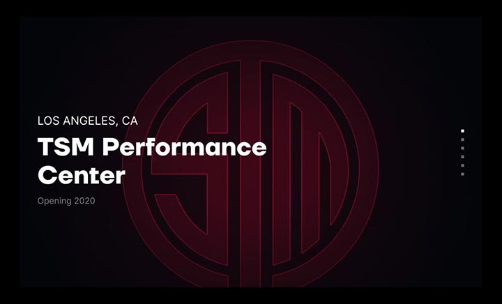 Team Solomid Esports Facility website