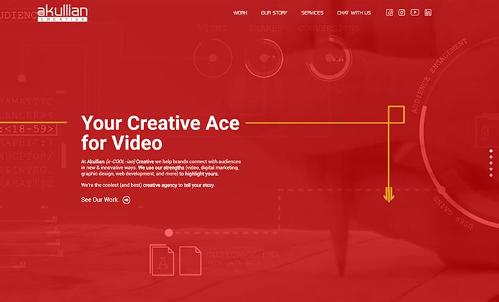 Akullian Creative website