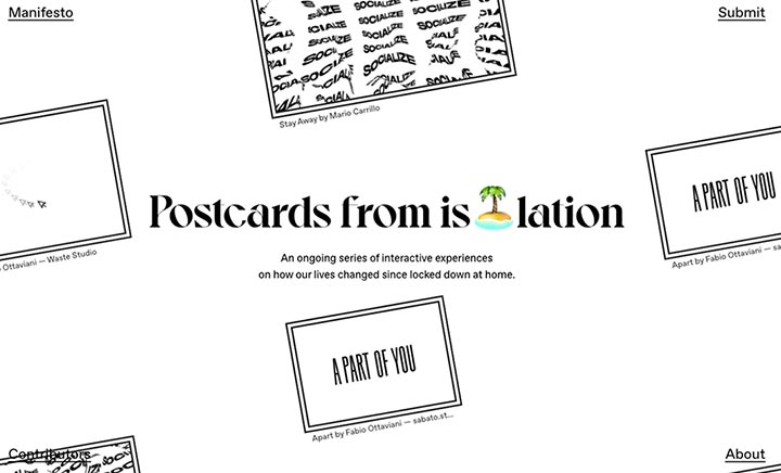 Postcards from Isolation