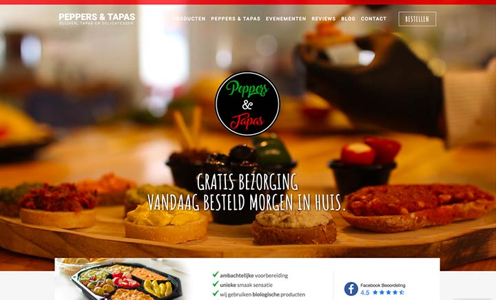 Peppers & Tapas website