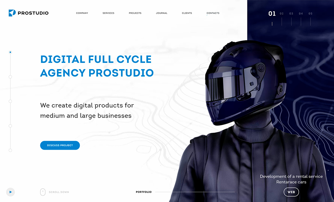 Prostudio Agency website