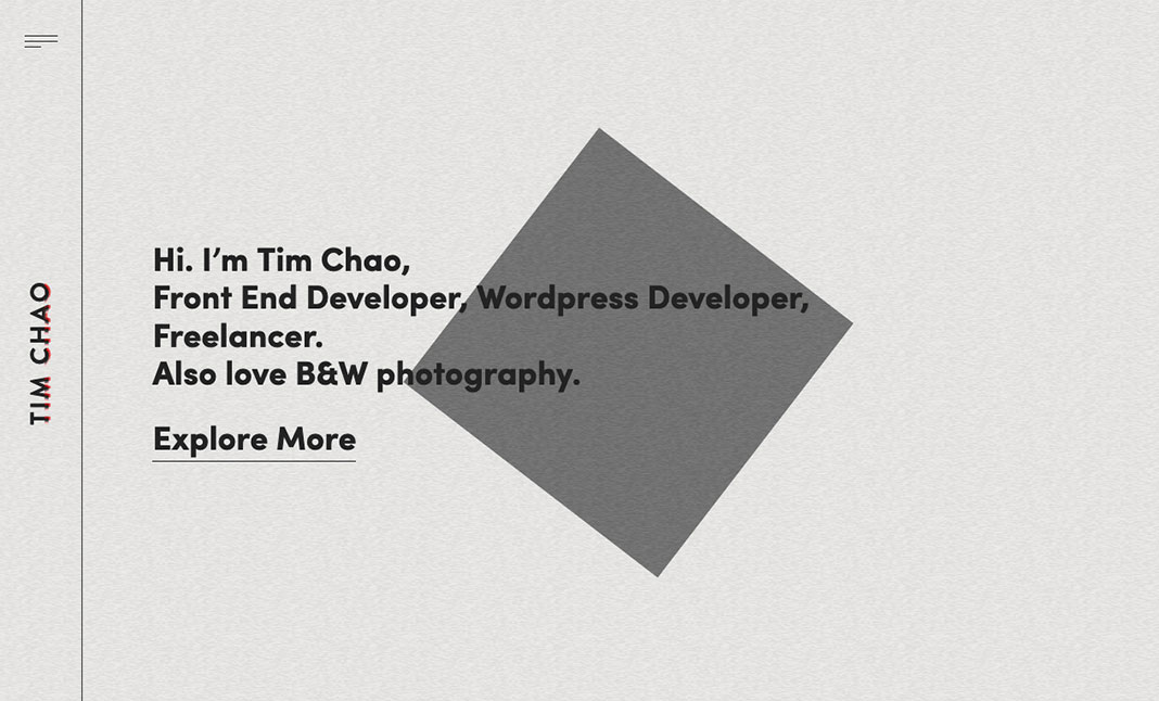 Tim Chao Portfolio website