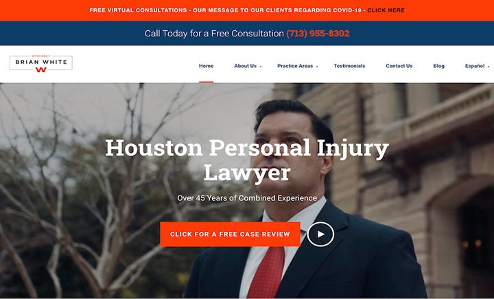 Attorney Brian White & Associates website