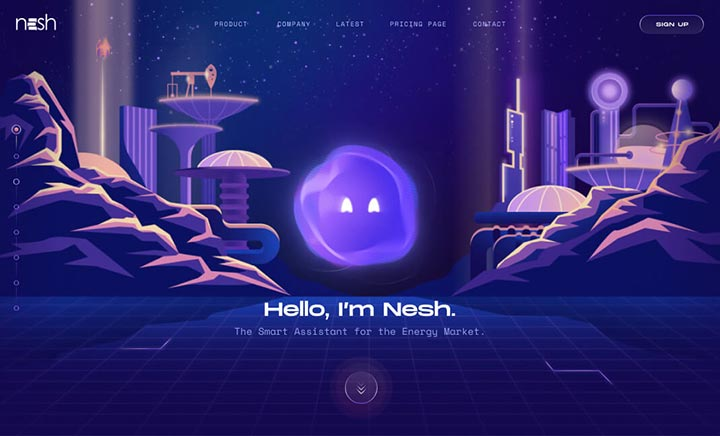 Nesh - The Smart Assistant website