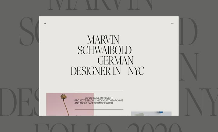 Marvin Schwaibold - Folio 2020 website