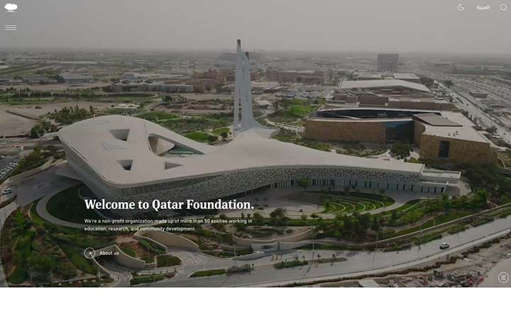 Qatar Foundation website