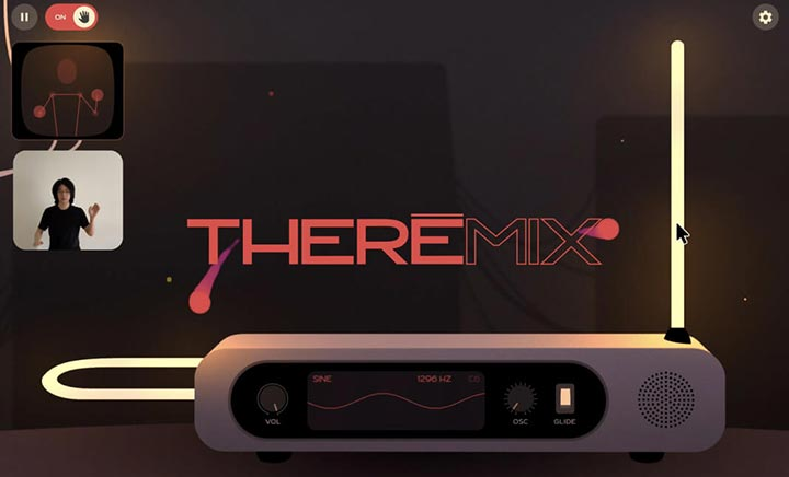 THEREMIX - Virtual Theremin website