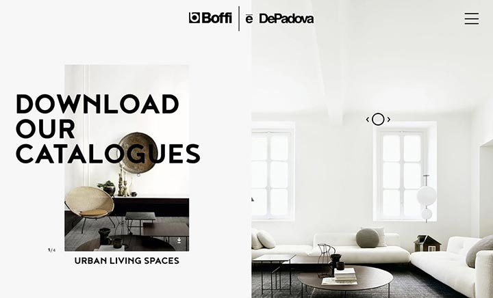 Boffi DePadova Network website