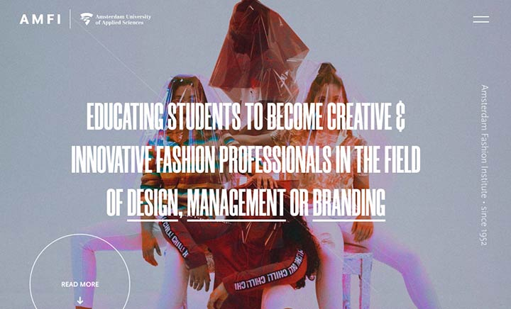Amsterdam Fashion Institute website