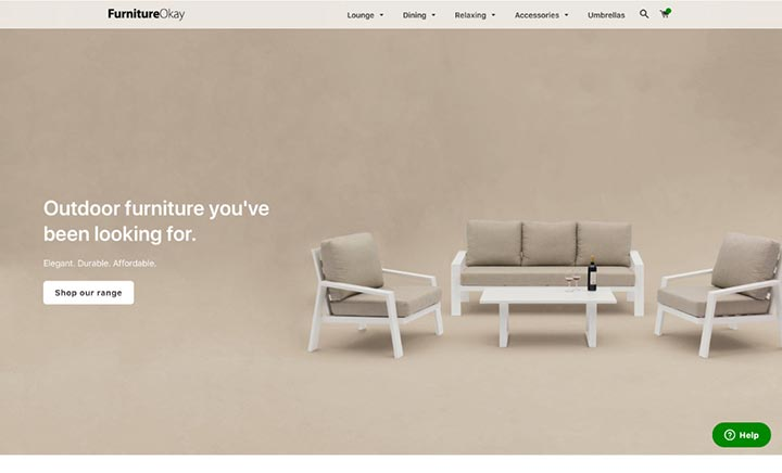 FurnitureOkay website