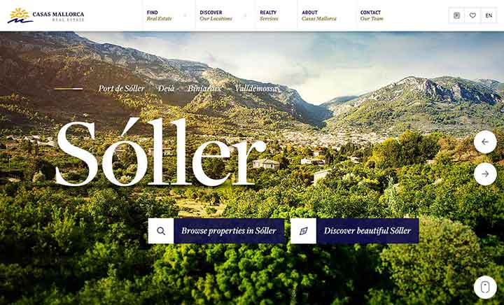 Casas Mallorca - Real Estate website