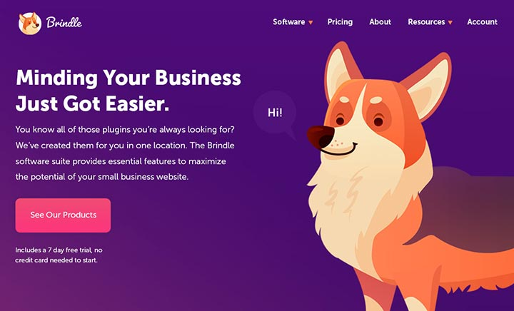 Brindle | Epic WordPress Plugins website
