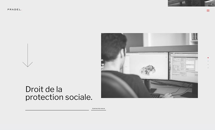Pradel Avocats website