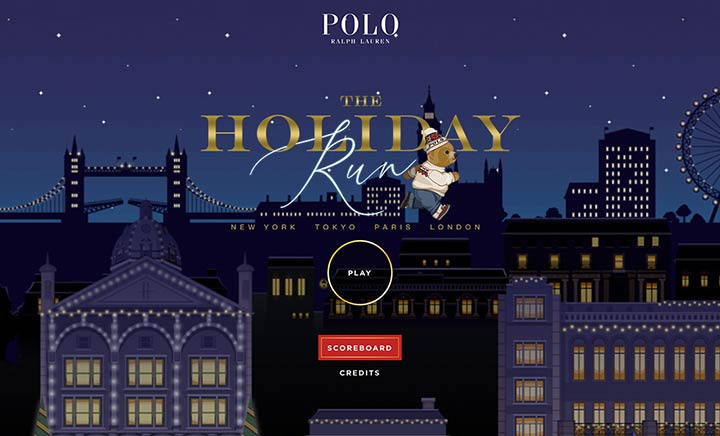 Ralph Lauren — The Holiday Run website
