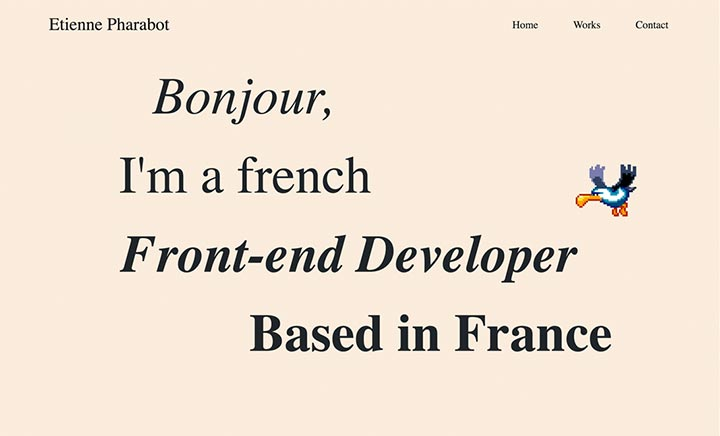Etienne Pharabot - Portfolio  website