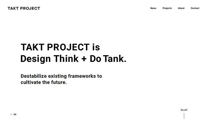 TAKT PROJECT website