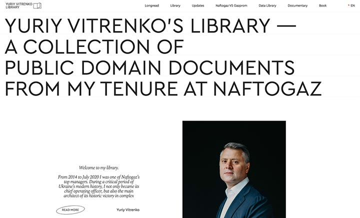 Yuriy Vitrenko's Library website