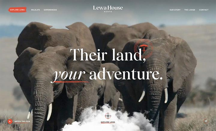 Lewa House  website