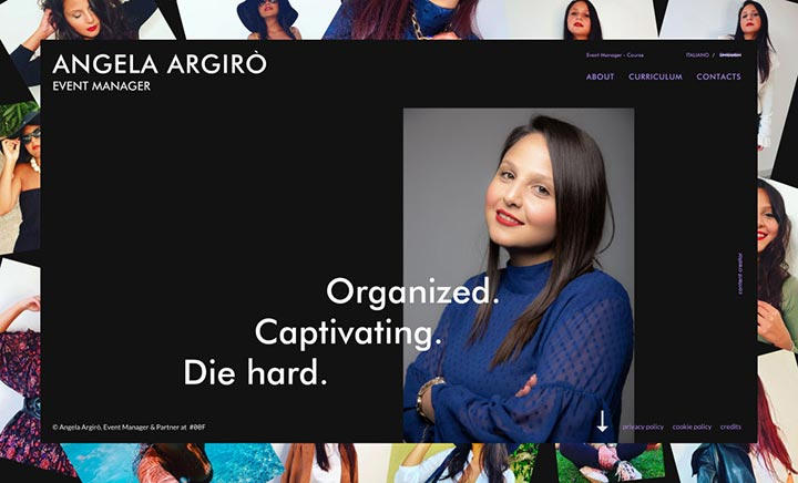 Angela Argirò — Event Manager website