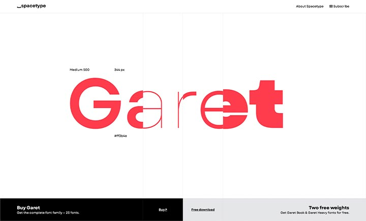 Garet Font Experience