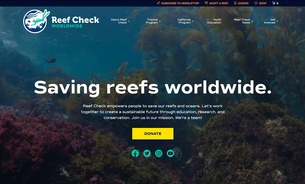 Reef Check Worldwide website