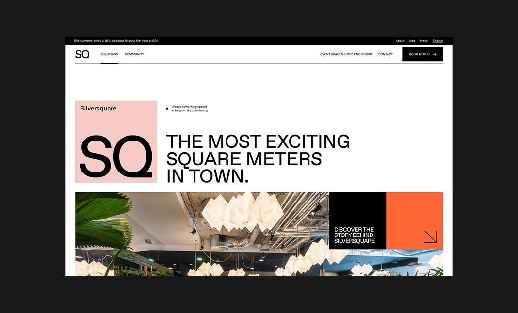 SILVERSQUARE website