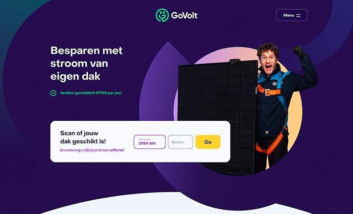 GoVolt - Zonnepanelen website