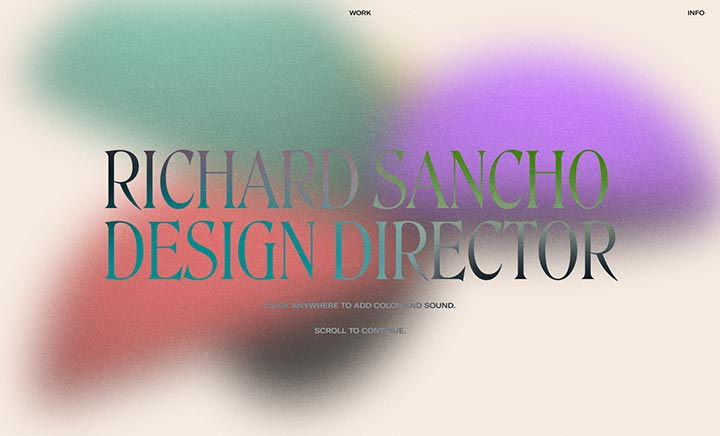 Richard Sancho: Portfolio 2021 website